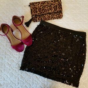 NWT Joe Fresh sequin mini skirt